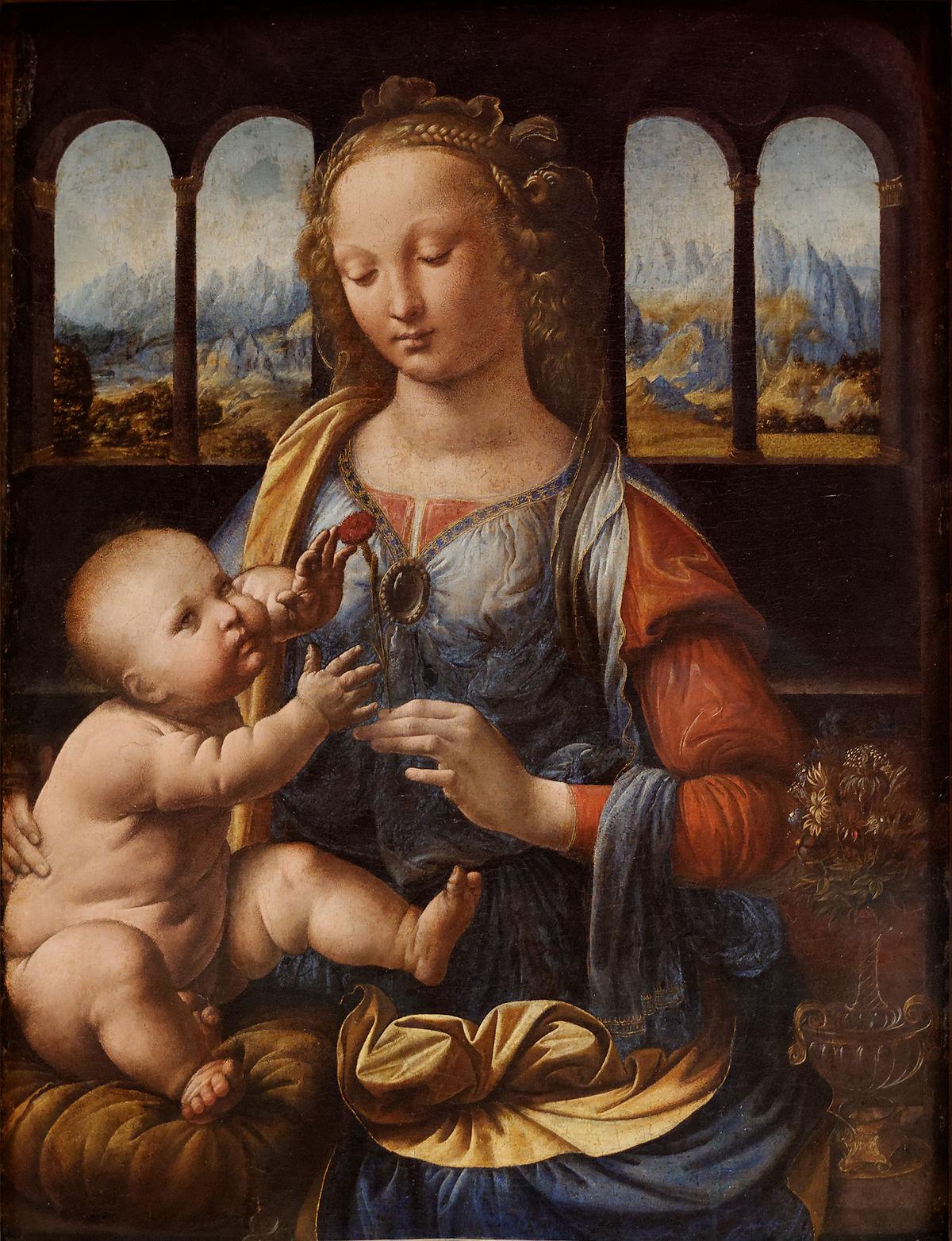 Madonna_of_the_Carnation_Leonardo_da_Vinci