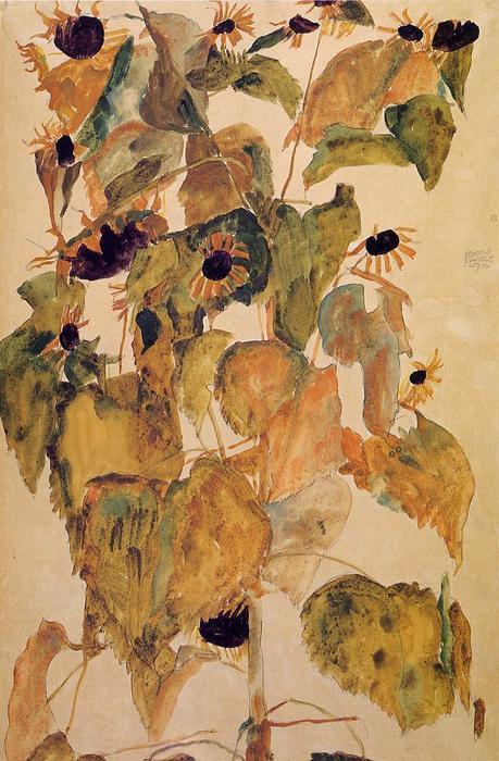 Egon-Schiele-Sunflowers-2-