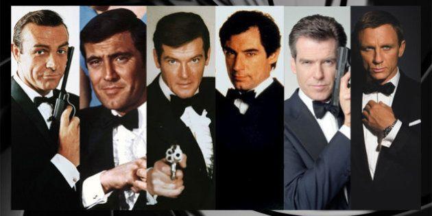 Sean Connery, George Lazenby, Roger Moore, Timothy Dalton, Pierce Brosnan et Daniel Craig