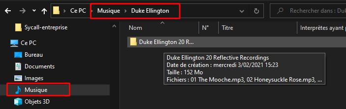 Emplacement des fichiers extraits