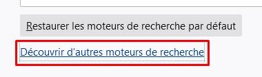 Firefox paramètres moteur 7