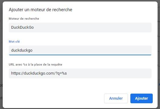 Chrome paramètres moteur 9