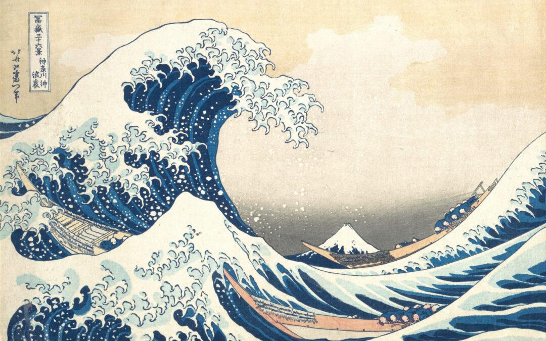 La toute première vague…
