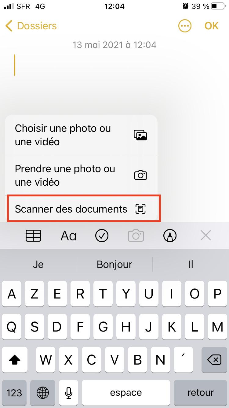 Validation photo scan